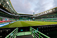 Sporting CP Stadium before the match for Liga NOS between Sporting Lisbon and Belenenses SAD at Estadio Jose Alvalade, Lisbon, Portugal on 21 April 2021.