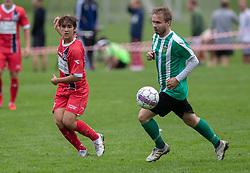 Alexander Stjernegaard (FC Helsingør) under kampen i Sydbank Pokalen, 1. runde, mellem Bispebjerg Boldklub og FC Helsingør den 2. september 2020 i Lersø Parken (Foto: Claus Birch).
