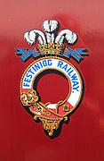 Ffestiniog railway logo sign symbol, Gwynedd, north west Wales, UK