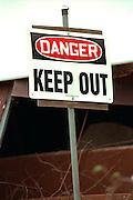 """Danger: Keep Out"" warning sign.  St Paul Minnesota USA"