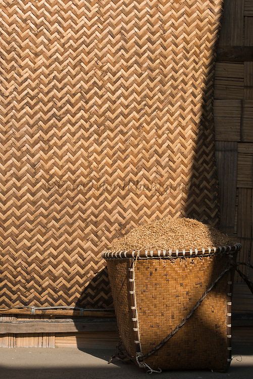 Rice in basket<br /> Apatani Tribe<br /> Ziro Valley, Lower Subansiri District, Arunachal Pradesh<br /> North East India
