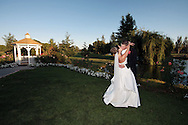 Photo by Kevin Bartram.Woll-Gunter 7/26/08.Allison and Dan Gunter kiss near the gazebo after their wedding at the Wedgewood Event Center in Rohnert Park, California on Saturday, July 26, 2008.