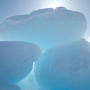 Ice formations stacked up on the ice pack of the Beaufort Sea.