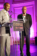 l to r: Reggie Van Lee and Noel Hankin at The Fifth Annual Grace in Winter Gala honoring Susan Taylor, Kephra Burns, Noel Hankin and Moet Hennessey USA and benfiting The Evidence Dance Company held at The Plaza Hotel on February 3, 2009 in New York City.