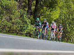 25.04.2018, Schwaz, AUT, ÖRV Trainingslager, UCI Straßenrad WM 2018, im Bild Patrick Konrad (AUT), Stefan Denifl (AUT), Thomas Rohregger (AUT), Mario Gamper (AUT) // during a Testdrive for the UCI Road World Championships in Schwaz, Austria on 2018/04/25. EXPA Pictures © 2018, PhotoCredit: EXPA/ JFK
