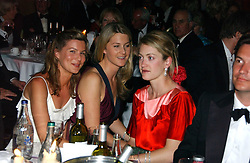 Left to right, ALEX GORE BROWNE, LADY KINVARA BALFOUR and ROSE VAN CUTSEM at the Boodles Boxing Ball in aid of the sports charity Sparks  organised by Jez lawson, James Amos and Charlie Gilkes held at The Royal Lancaster Hotel, Lancaster Terrae London W2 on 3rd June 2006.<br /> <br /> NON EXCLUSIVE - WORLD RIGHTS