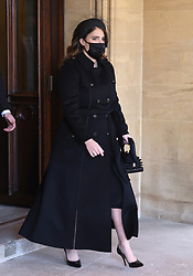 Princess Eugenie ahead of the funeral of the Duke of Edinburgh at Windsor Castle, Berkshire. Picture date: Saturday April 17, 2021.