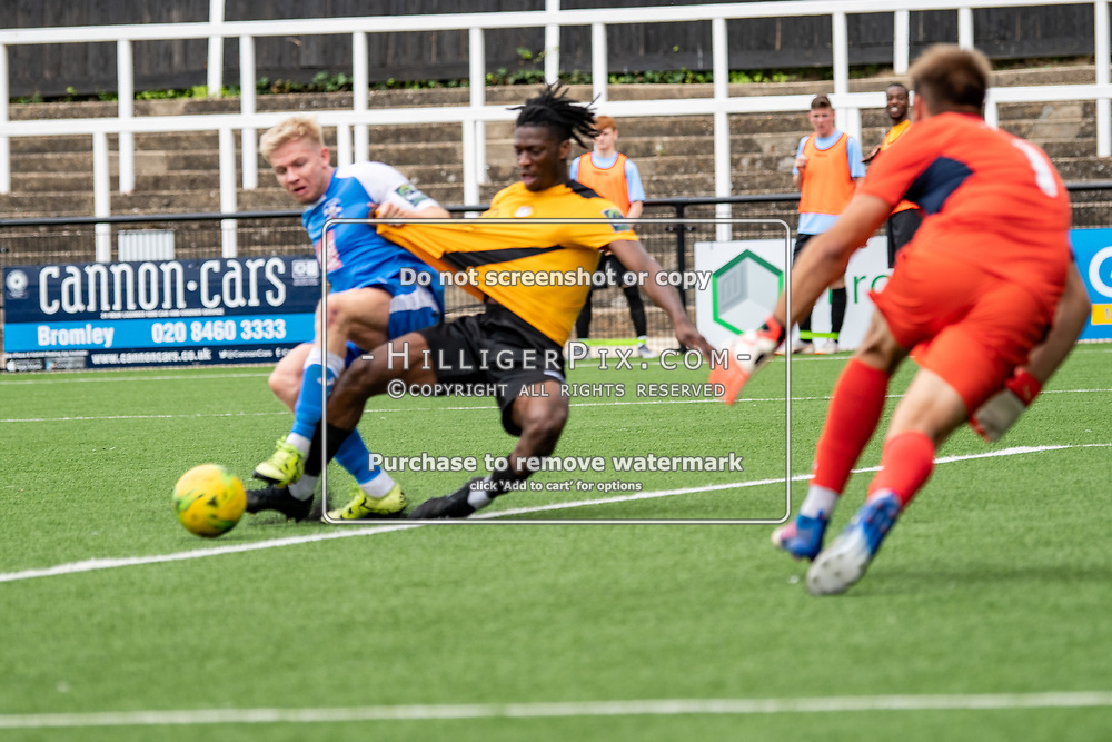 BROMLEY, UK - JULY 13: XXXX during the Pre-season friendly match between Cray Wanderers FC and Tonbridge Angels FC at Hayes Lane on July 13, 2019 in Bromley, UK. <br /> (Photo: Jon Hilliger)