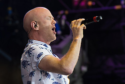 © Licensed to London News Pictures . 08/08/2015 . Siddington , UK . JIMMY SUMMERVILLE on stage at The Rewind Festival of 1980s music , fashion culture at Capesthorne Hall in Macclesfield . Photo credit: Joel Goodman/LNP