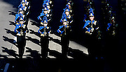 The Kearney High School marching band makes their way down Eddy Street during the Harvest of Harmony Parade in Grand Island on Saturday. (Independent/Crystal LoGiudice).