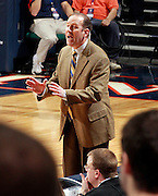 CHARLOTTESVILLE, VA- December 3: Head coach Mike Gillian of the Longwood Lancers coaches his team during the game on December 27, 2011 against the Virginia Cavaliers at the John Paul Jones Arena in Charlottesville, Virginia. Virginia defeated Longwood 86-53. (Photo by Andrew Shurtleff/Getty Images) *** Local Caption *** Mike Gillian