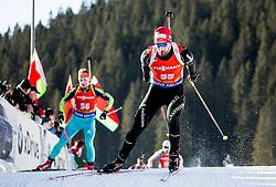Serafin Wiestner (SUI) during Men 12,5 km Pursuit at day 3 of IBU Biathlon World Cup 2015/16 Pokljuka, on December 19, 2015 in Rudno polje, Pokljuka, Slovenia. Photo by Vid Ponikvar / Sportida