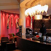 Africa, Kenya, Nairobi. Bar at The Tribe Hotel.