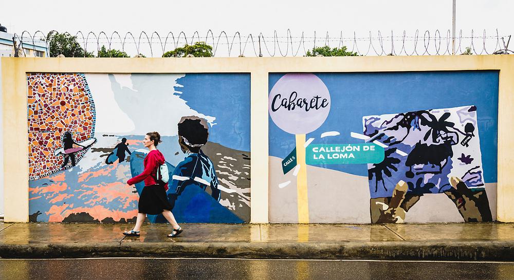Street art Callejón de Loma, Cabarete, Dominican Republic.
