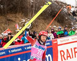 19.01.2020, Lauberhorn, Wengen, SUI, FIS Weltcup Ski Alpin, Slamon, Herren, Siegerehrung, im Bild Alexander Khoroshilov (RUS, 3. Platz) // third placed Alexander Khoroshilov of Russian Federation during the winner ceremony for the men's Slalom of FIS ski alpine world cup at the Lauberhorn in Wengen, Switzerland on 2020/01/19. EXPA Pictures © 2020, PhotoCredit: EXPA/ Johann Groder