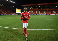 Charlton Athletic's Ezri Konsa Ngoyo applauds the fans at full time