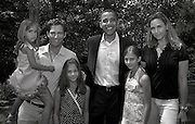President Barack Obama with Harry Conick Jr., his wife Jill Goodacre and their three daughters.  Photo by Johnny Bivera