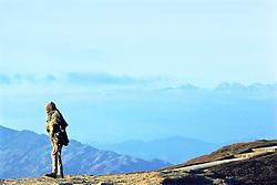 Man On Ridge