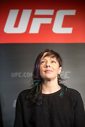 Scot Joanne Calderwood - No.8 strawweight contender. UFC FIGHT NIGHT: ULTIMATE MEDIA DAY, Castle, Crowne Plaza Glasgow,