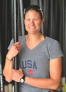 """San Diego, California. USA.  USA Double Olympian Gold Medalist,  Zsuzsanna """"Susan"""" FRANCIA, in  her role as  Women's Varsity coach at the San Diego Rowing Club. Mission Bay.  15:56:13.  Thursday  11/04/2013   [Mandatory Credit. Peter Spurrier/Intersport Images] .."""