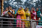 Women pray together A musical and religious celebration in Manali on 27th October 2009, Himachal Pradesh, India.