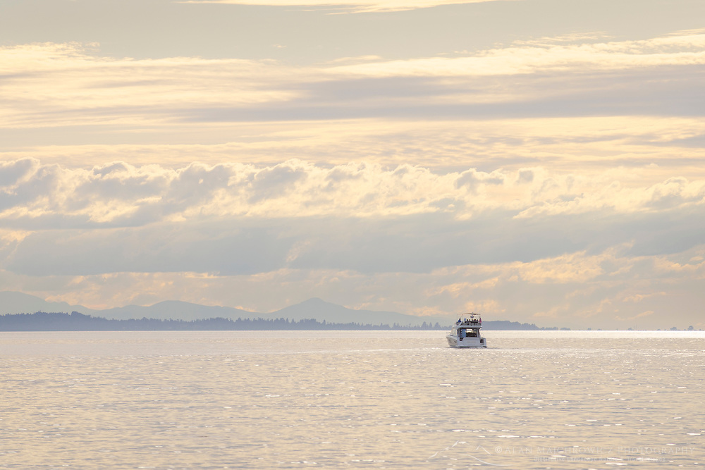 Yacht in Semiahmoo Bay, Washington.