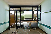 abandoned building, office destroyed