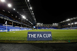 General View of FA Cup branding inside the stadium before the match - Photo mandatory by-line: Rogan Thomson/JMP - 07966 386802 - 06/01/2015 - SPORT - FOOTBALL - Liverpool, England - Goodison Park - Everton v West Ham United - FA Cup Third Round Proper.