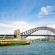 Sydney Harbor Bridge and Manly Ferry