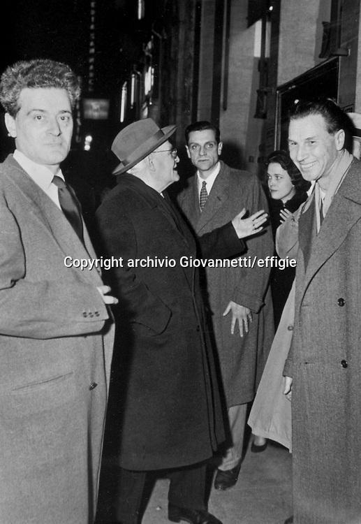 Giorgio Caproni, Giuseppe Ungaretti, Mainardi<br />archivio Giovannetti/effigie