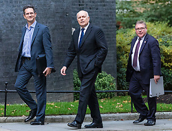 © Licensed to London News Pictures. 16/10/2019. London, UK. From left: European Research Group members Steve Baker MP, Ian Duncan Smith MP and Mark Francois MP arrive at 10 Downing Street (with Bill Cash MP). Photo credit: Rob Pinney/LNP