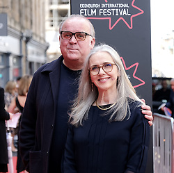 Edinburgh International Film Festival 2019<br /> <br /> Mrs Lowry (UK Premiere, closing night gala)<br /> <br /> Pictured: Composer Craig Armstrong and Laura Mazzolini <br /> <br /> Aimee Todd   Edinburgh Elite media
