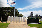 USS Oklahoma Memorial, Pearl Harbor, Ford Island, Honolulu, Oahu, Hawaii