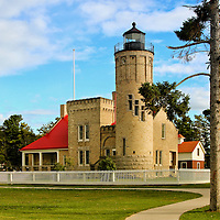 """""""Old Mackinac Point Lighthouse""""<br /> <br /> The Old Mackinac Point Lighthouse in Mackinaw City Michigan.<br /> <br /> Lighthouses of the Great lakes by Rachel Cohen"""