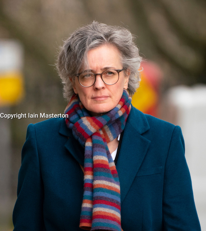 Edinburgh, Scotland, UK. 11 March, 2020.  Shelagh McCall, QC, Deputy defence lawyer for Alex Salmond arrives  at High Court in Edinburgh third day of his trial. He is accused of various sexual offences all of which he denies. Iain Masterton/Alamy Live News