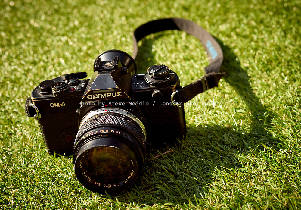 Olympus OM4 35mm film single lens reflex camera, The OM4 was first introduced in 1983, London, England - 07 June 2021