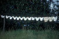 Drying a family's underwear, Asturias, Spain-Photograph by Owen Franken