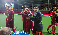ANTWERPEN - goalkeeper Vincent Vanasch (Belgie)   na  de finale mannen  Belgie-Spanje (5-0),  bij het Europees kampioenschap hockey. Belgie Europees Kampioen.   COPYRIGHT KOEN SUYK