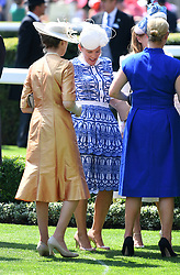 Princess Anne, Autumn Phillips and Zara Phillips during day one of Royal Ascot at Ascot Racecourse, London