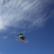 Devin Logan, USA, in action during her victory in the Women's Freeski Big Air competition at Cardrona, New Zealand during the Winter Games. Wanaka, New Zealand, 20th August 2011. Photo Tim Clayton