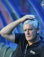 Football - Mark Hughes the Team Manager of QPR looks on during the friendly match against Kelantan Select XI during the QPR Asian Tour 2012 at the Shah Alam Stadium, Selangor, Malaysia