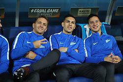 November 23, 2017 - Saint-Petersburg, Russia - Of The Russian Federation. Saint-Petersburg. Arena Saint-Petersburg. Zenit-arena. Football match of the UEFA Europa League, group stage: Zenit - FK Vardar. The player of football club..Domenico Criscito; Leandro Paredes; Sebastian Driussi. (Credit Image: © Russian Look via ZUMA Wire)
