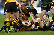 Northampton, Northamptonshire, 2nd October 2004 Northampton Saints vs London Wasps, Zurich Premiership Rugby, Franklyn Gardens, [Mandatory Credit: Peter Spurrier/Intersport Images],<br /> <br /> <br /> <br /> Northampton, Northamptonshire, 2nd October 2004 Northampton Saints vs London Wasps, Zurich Premiership Rugby, Franklyn Gardens, [Mandatory Credit: Peter Spurrier/Intersport Images],<br /> Wylie Humun,at the ruck.