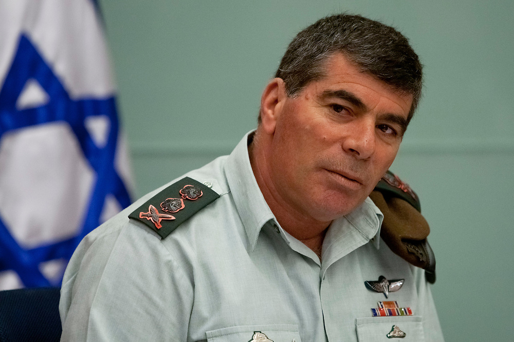 IDF Chief of Staff Lieutenant-General Gabi Ashkenazi attends a session of the Foreign Affairs and Defense Committee of the Israeli Parliament, the Knesset in Jerusalem, on March 23, 2010.