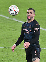 Football - 2020 / 2021 Emirates FA Cup - Round Five - Swansea City vs Manchester City - Liberty Stadium<br /> <br /> Kyle Walker OF Manchester City chests the ball