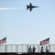 The Blue Angels fly their F-18 Hornets at the Miramar Air Show in San Diego, CA.