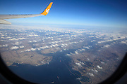 flying over Istanbul city on clear day with good visibility