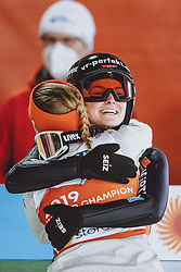 28.02.2021, Oberstdorf, GER, FIS Weltmeisterschaften Ski Nordisch, Oberstdorf 2021, Mixed Teambewerb, Skisprung HS106, im Bild Katharina Althaus (GER), Anna Rupprecht (GER) // Katharina Althaus of Germany Anna Rupprecht of Germany during the ski jumping HS106 mixed team competition of FIS Nordic Ski World Championships 2021 in Oberstdorf, Germany on 2021/02/28. EXPA Pictures © 2021, PhotoCredit: EXPA/ JFK