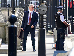 © Licensed to London News Pictures. 13/09/2016. London, UK.  Secretary of State for Exiting the European Union DAVID DAVIS MP talks to a police office as he arrives at 10 Downing Street in London for cabinet meeting on September 13, 2016. Photo credit: Ben Cawthra/LNP
