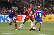 Usain Bolt (FIFA 98), Alain BOGHOSSIAN (France 98) during the 2018 Friendly Game football match between France 98 and FIFA 98 on June 12, 2018 at U Arena in Nanterre near Paris, France - Photo Stephane Allaman / ProSportsImages / DPPI